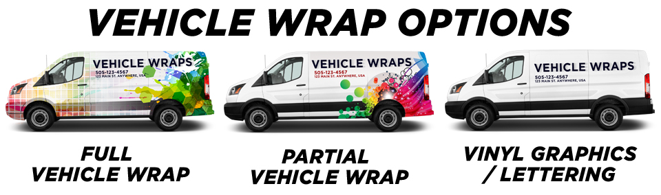 Andrews Vehicle Wraps vehicle wrap options