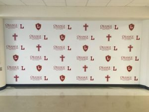 Indiana Church Signs custom wall vinyl step repeat mural 300x225