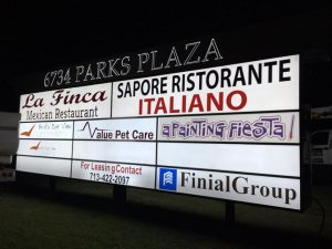Lighted Tenant Signs