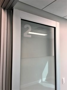 vinyl door wayfinding room id sign